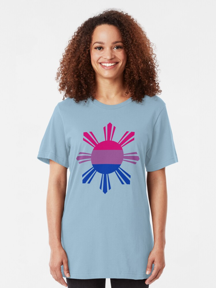 Alternate view of Pin*y Third Culture Series (Pink, Purple, Blue) Slim Fit T-Shirt