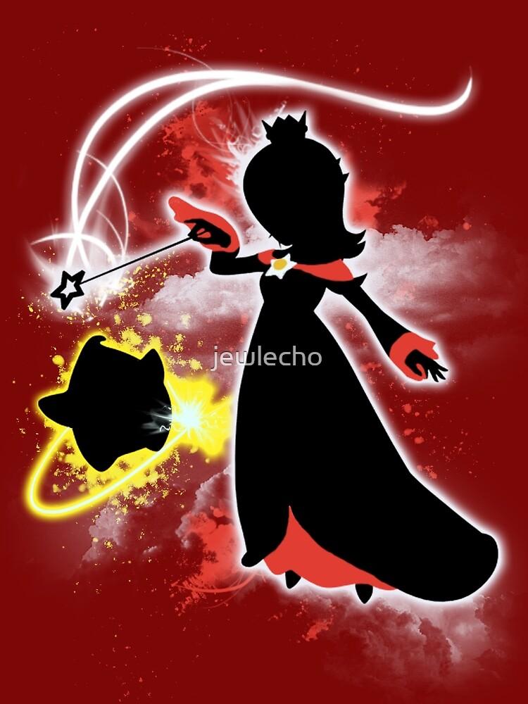Super Smash Bros. White/Red Rosalina Silhouette by jewlecho