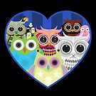 Love Owls 2 (Black) by Adamzworld
