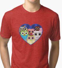Love Owls 2 (White) Tri-blend T-Shirt