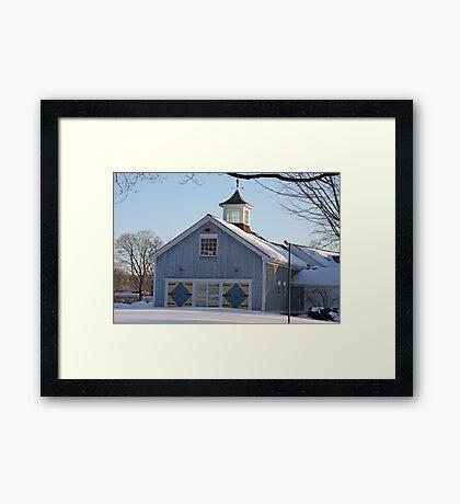 Diamond Barn Doors Framed Print