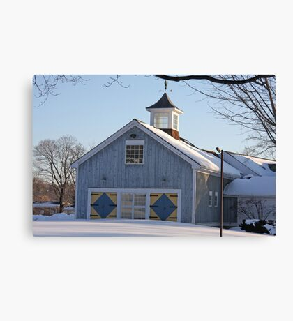 Diamond Barn Doors Canvas Print