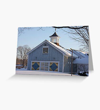 Diamond Barn Doors Greeting Card