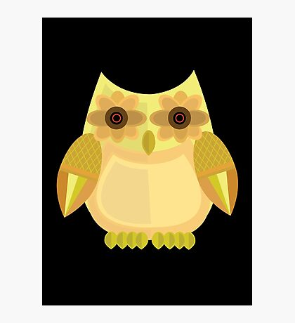 Harvest Owl - Yellow 2 Photographic Print