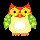 Star Owl - Red Yellow Green 2 by Adamzworld