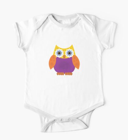 Star Owl - Yellow Orange Purple Kids Clothes