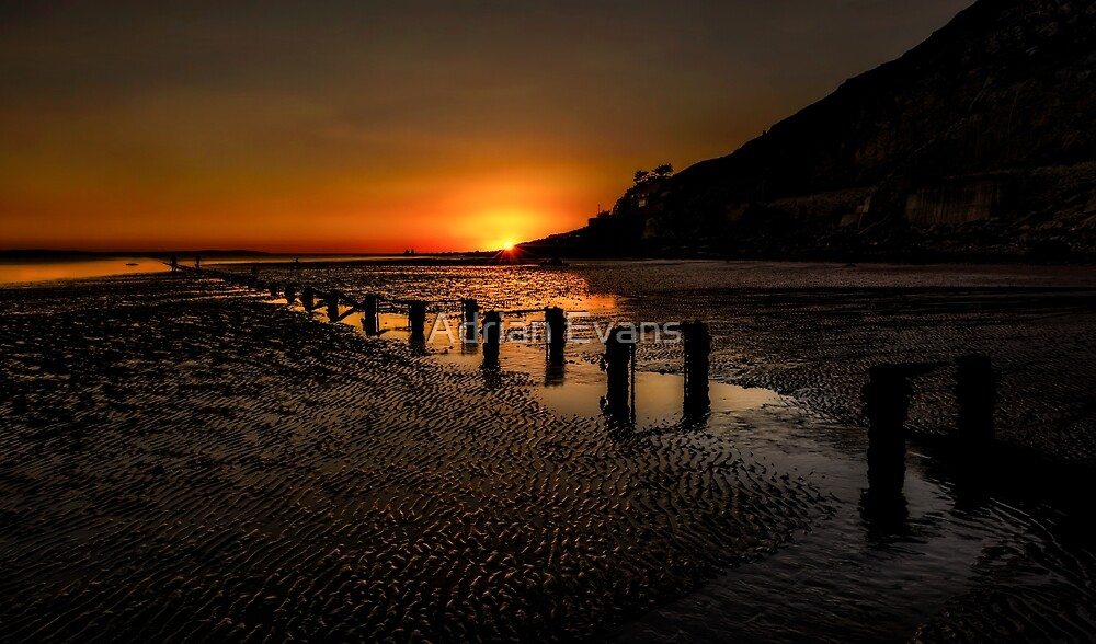 Sunset By The Beach by Adrian Evans