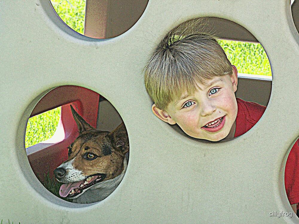 Dog and Boy by sillyfrog