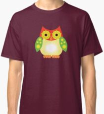 Star Owl - Red Yellow Green Classic T-Shirt