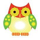 Star Owl - Red Yellow Green by Adamzworld