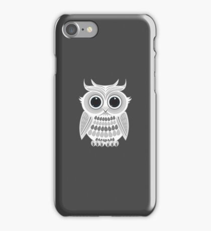 White Owl - Grey iPhone Case/Skin