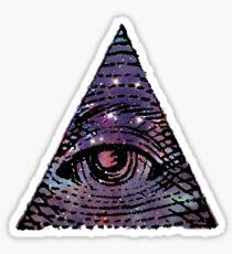 Illuminati Galaxy Sticker