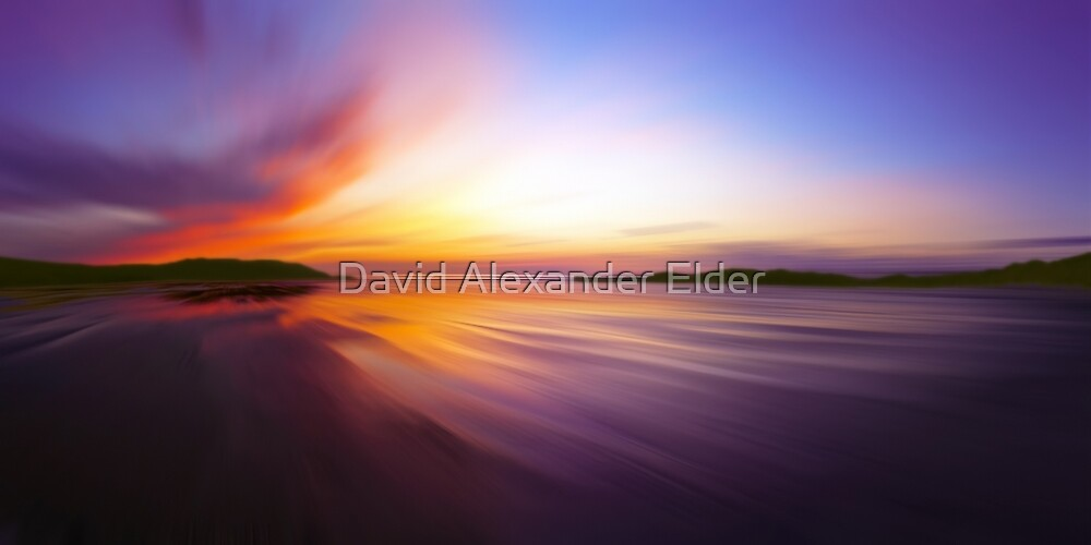 Coast Awash Panorama by David Alexander Elder