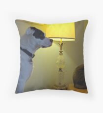 Louie the Dog and Mouse the Cat Throw Pillow