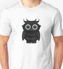 Black Owl - White Unisex T-Shirt