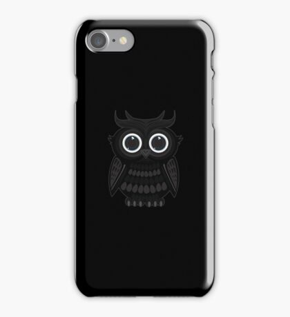 Black Owl iPhone Case/Skin