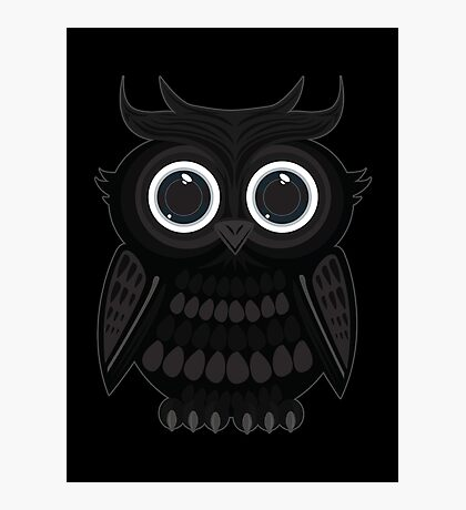 Black Owl Photographic Print