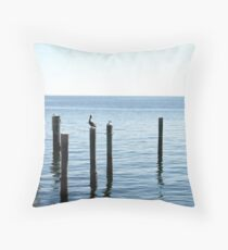 Solitary hunt Throw Pillow