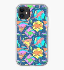 Nineties Dinosaurs Pattern iPhone Case