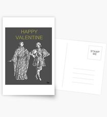 Happy Valentine, Two Men Postcards