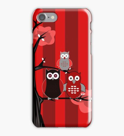Red Owls iPhone Case/Skin