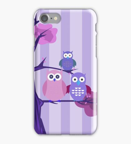 Purple Owls iPhone Case/Skin
