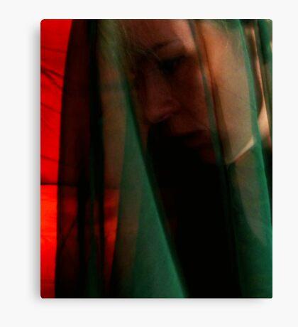 Through a Green Veil Canvas Print