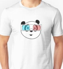 Panda - 3D Glasses Unisex T-Shirt
