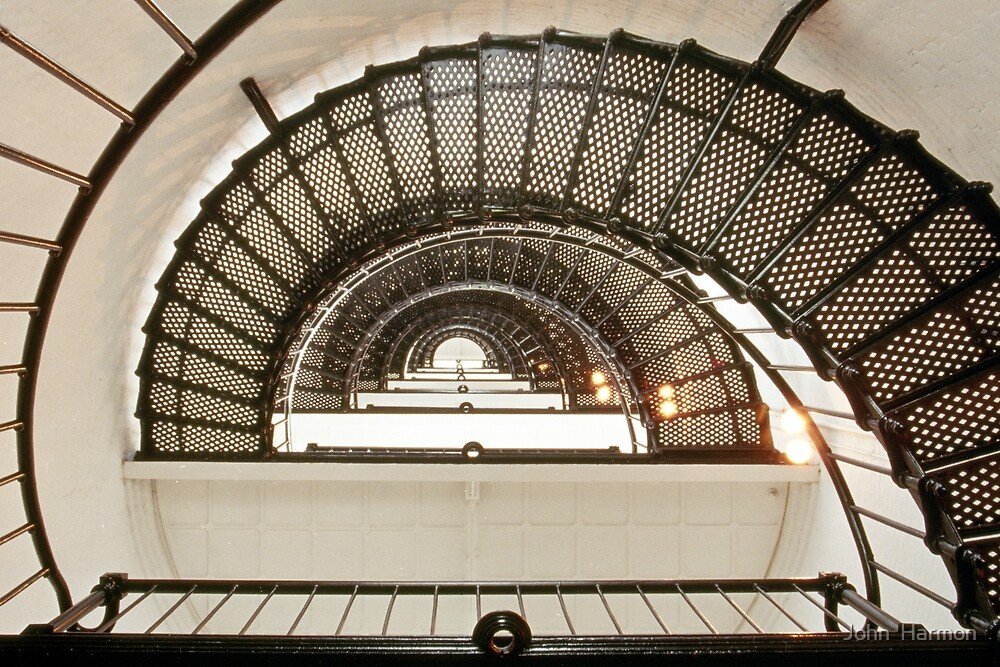 Stairway of the Sant Augustine Lighthouse by John  Harmon