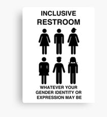 Inclusive Restroom Sign Canvas Print