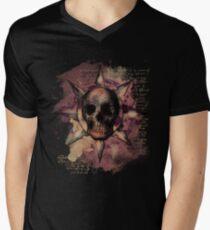 Skull Romantique Men's V-Neck T-Shirt