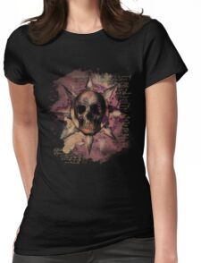 Skull Romantique Womens Fitted T-Shirt