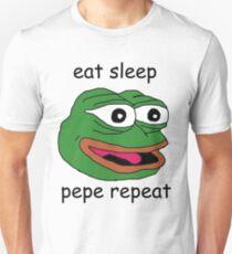 eat sleep pepe repeat Unisex T-Shirt