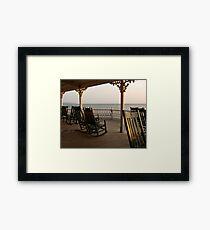 Surf Hotel Porch View - Block Island Framed Print