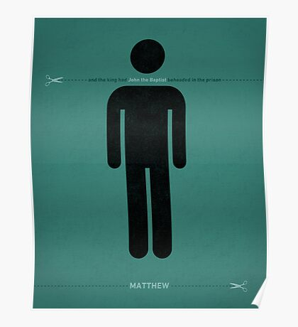 Word: Matthew (The Headless Baptist) Poster
