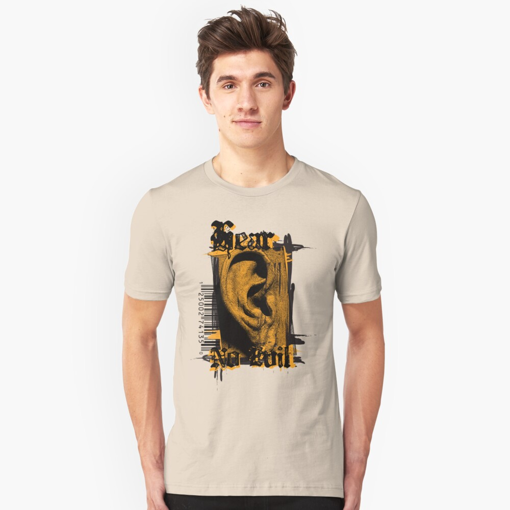Hear No Evil Unisex T-Shirt Front