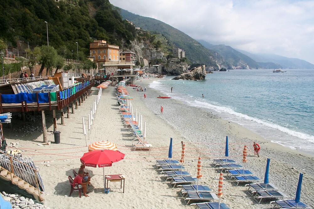 Cinque Terra - Monterosso Beach by Stephen Cross Photography