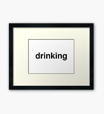 drinking Framed Print