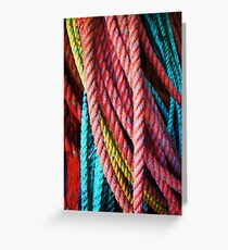 Colored lines Greeting Card