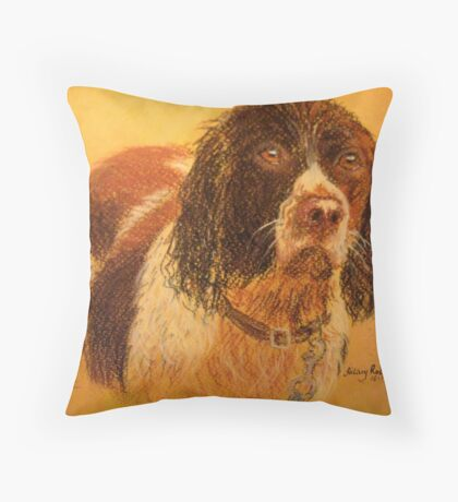Wet Spaniel Throw Pillow