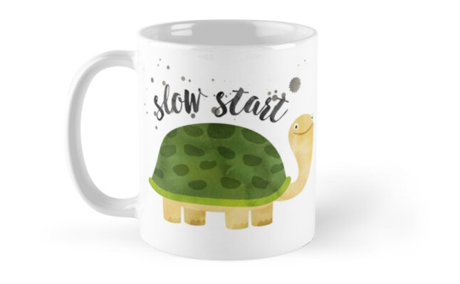 Funny Mug - Slow Start Not a Morning Person by Natalie Kinnear