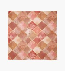 Rose Quartz & Gold Moroccan Tile Pattern Scarf