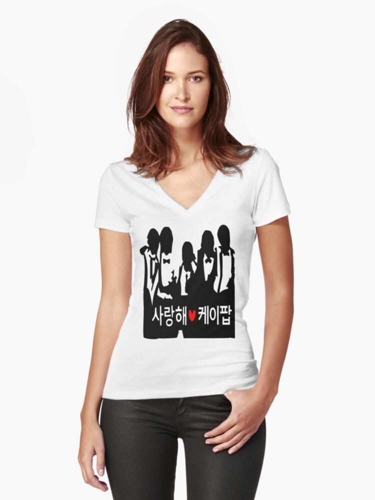 I LOVE KPOP in Korean txt Boys vector art  by cheeckymonkey