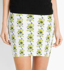 Yellow Flower Spray Mini Skirt