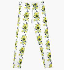 Yellow Flower Spray Leggings