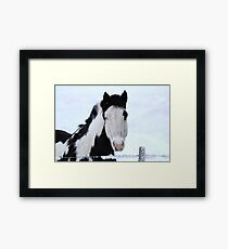 One Blue Eye Framed Print
