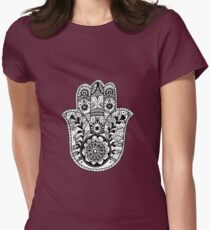 The Hamsa Hand Womens Fitted T-Shirt