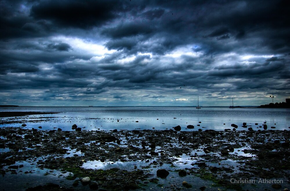 Quot Stormy Beach Quot By Christian Atherton Redbubble