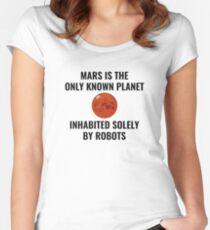 Mars Robot Women's Fitted Scoop T-Shirt