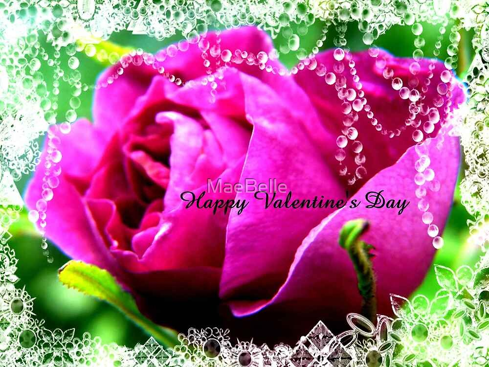 Roses and Jewels,Valentine card by MaeBelle